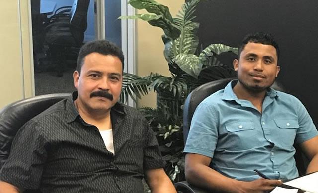Jesus Reyes y Roberto Santiago