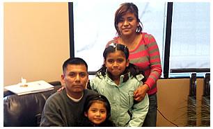 Juan Carlos Eneque y Familia