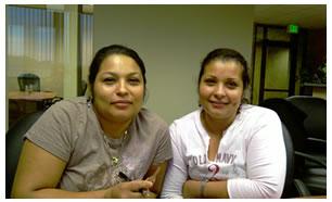 Sandra y Jeysi Mandujano