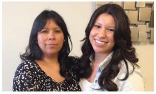 Lourdes Ramirez y Jessica Bohorquez